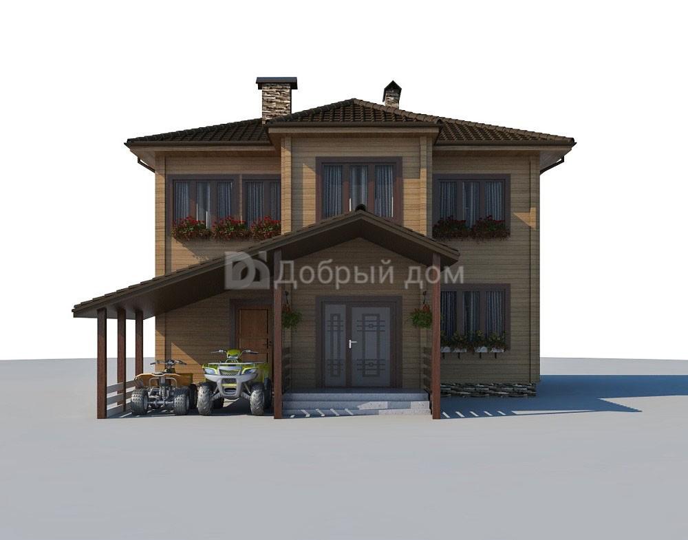 Проект дома 9.9 м х 6 м с четырехскатной крышей
