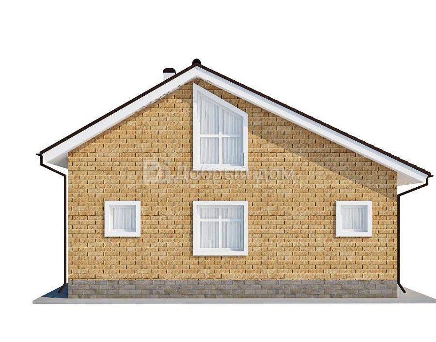 Проект дома 10 м х 10 м с двускатной крышей