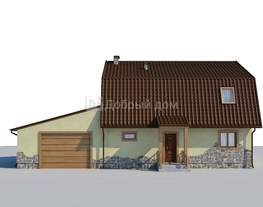 Проект дома 16 м х 9 м с мансардной крышей