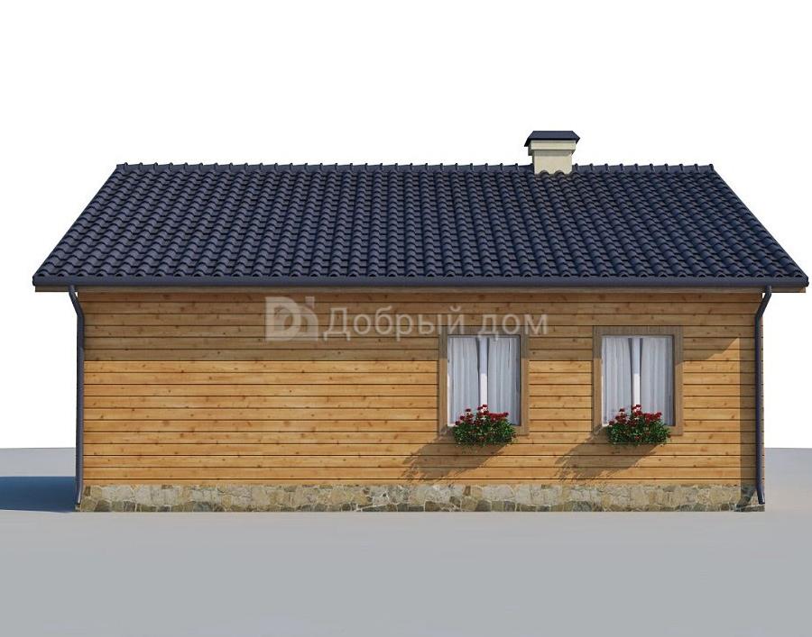 Проект дома 10.3 м х 8.2 м с двускатной крышей