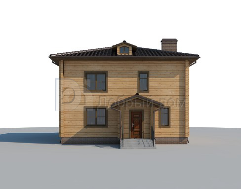 Проект дома 9.1 м х 9.1 м с четырехскатной крышей