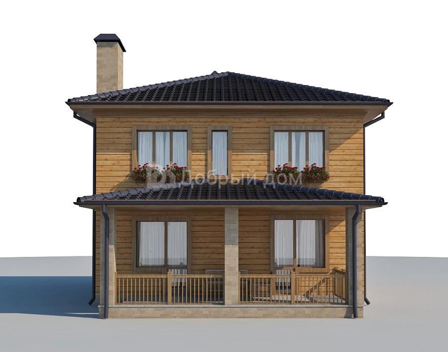 Проект дома 9.9 м х 8.3 м с четырехскатной крышей