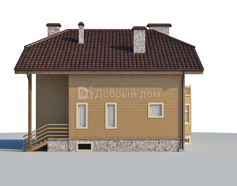 Проект дома 12,9×10,8 м. с мансардной крышей