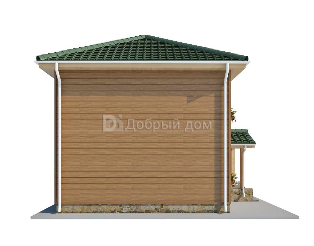 Дом 9×6,4 м. с четырехскатной крышей