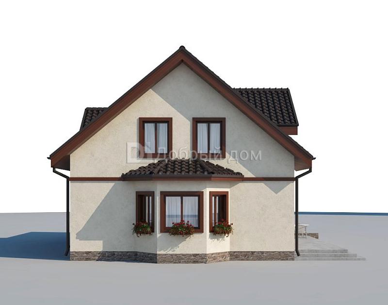 Проект дома 13,05×9,46 м. с двускатной крышей