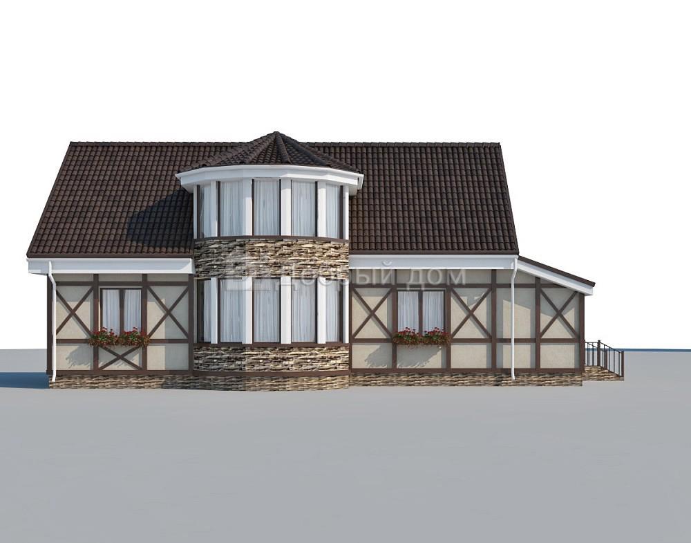 Дом 17,9×7,5 м. с двускатной крышей