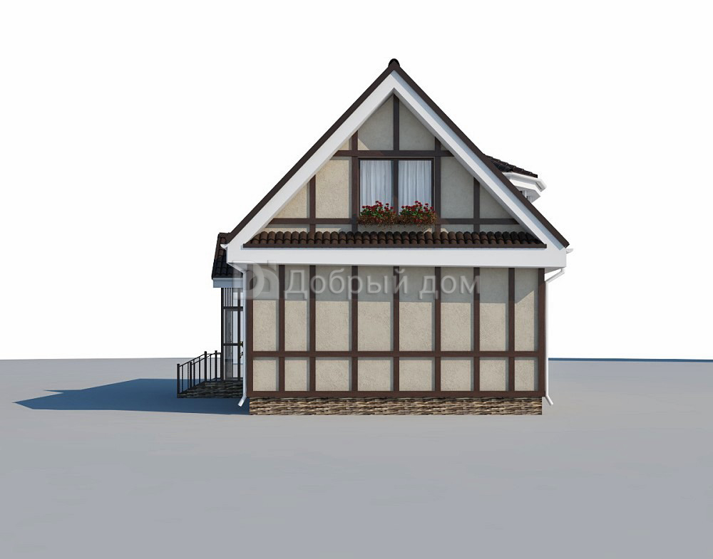 Проект дома 17,9×7,5 м. с двускатной крышей