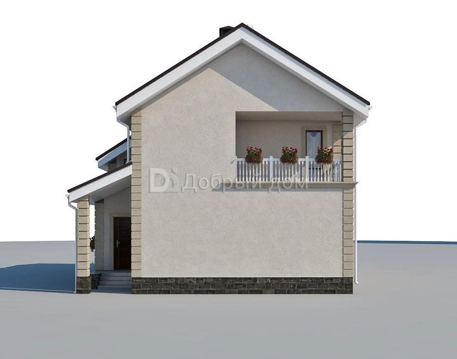 Дом 14×10 м. с двускатной крышей