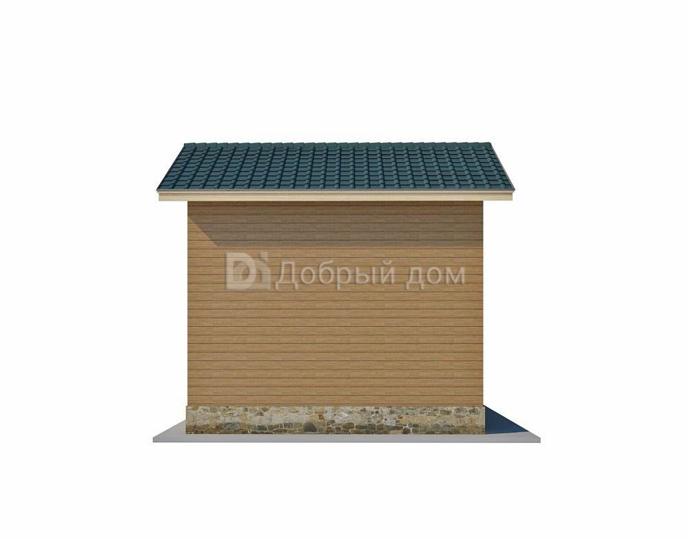 Проект дома 16 м х 6 м с двускатной крышей