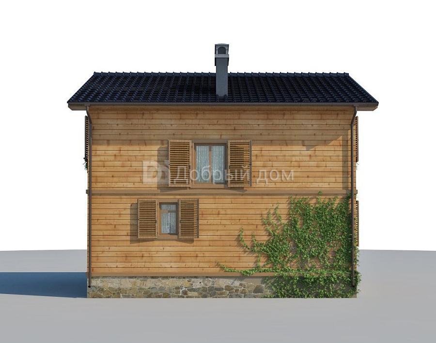 Проект дома 9.5 м х 7.5 м с двускатной крышей