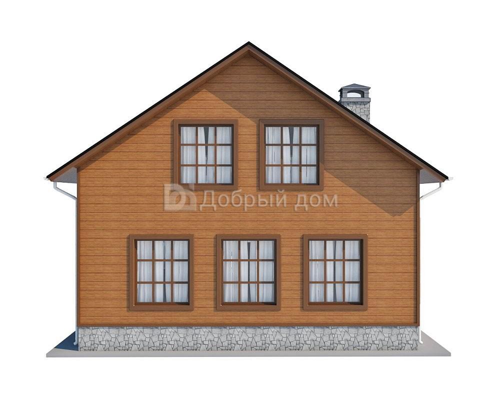 Дом 12×9 м. с двускатной крышей