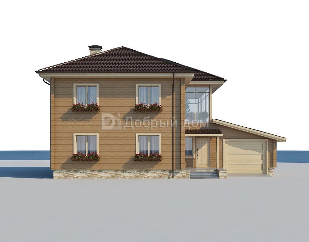 Проект дома 15 м х 10 м с четырехскатной крышей