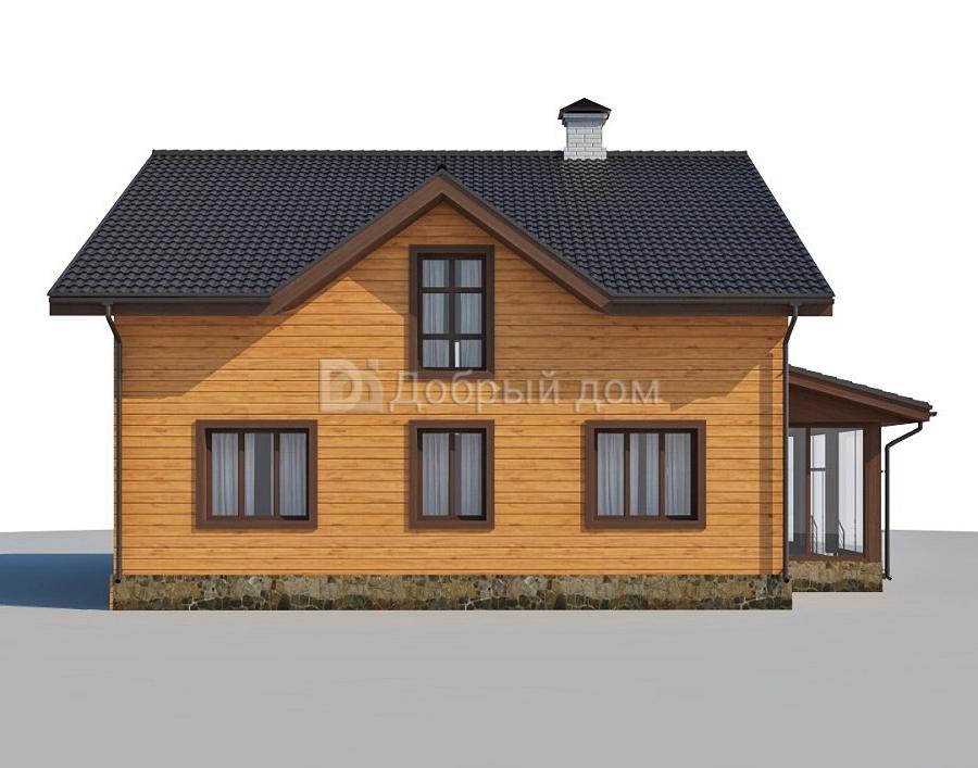 Дом 12,5×11,2 м. с двускатной крышей