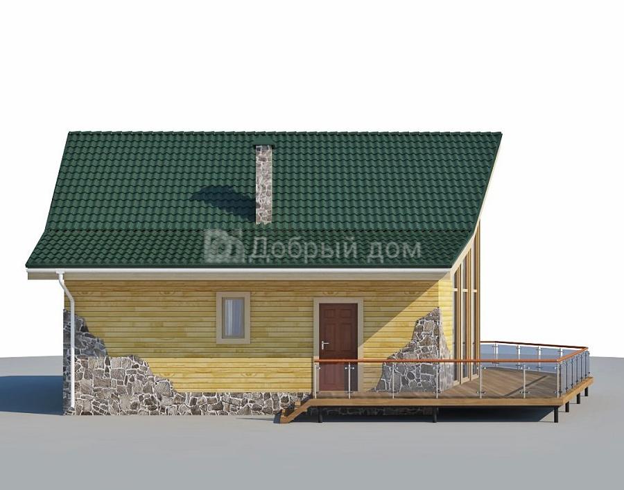 Проект дома 11 м х 8 м с двускатной крышей
