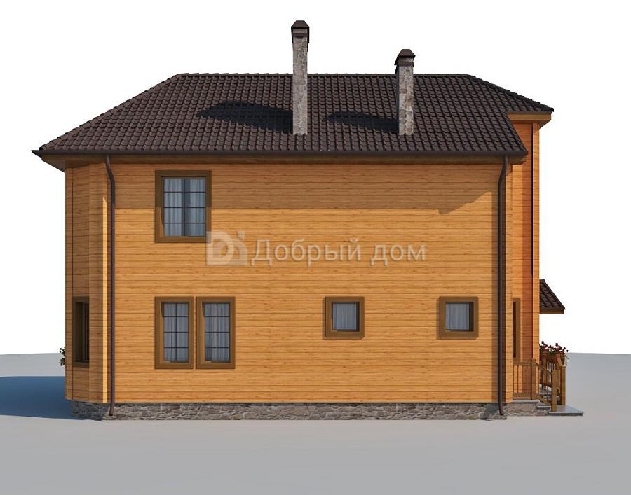 Проект дома 11.5 м х 9.2 м с четырехскатной крышей