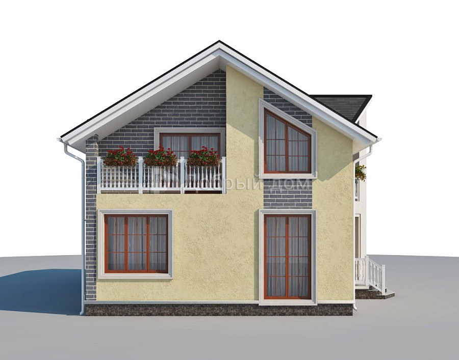 Дом 14×8 м. с двускатной крышей