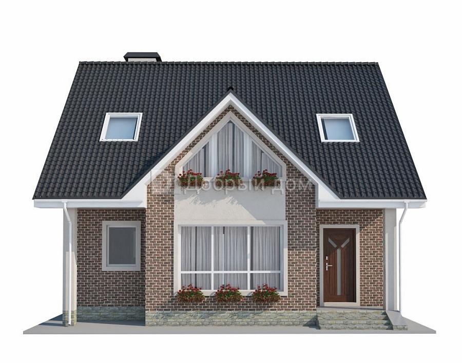 Дом 12×11,6 м. с двускатной крышей