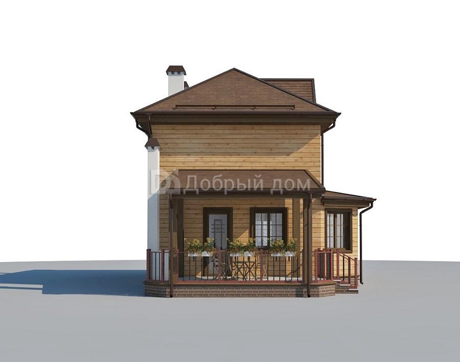 Проект дома 9.8 м х 8.4 м с четырехскатной крышей