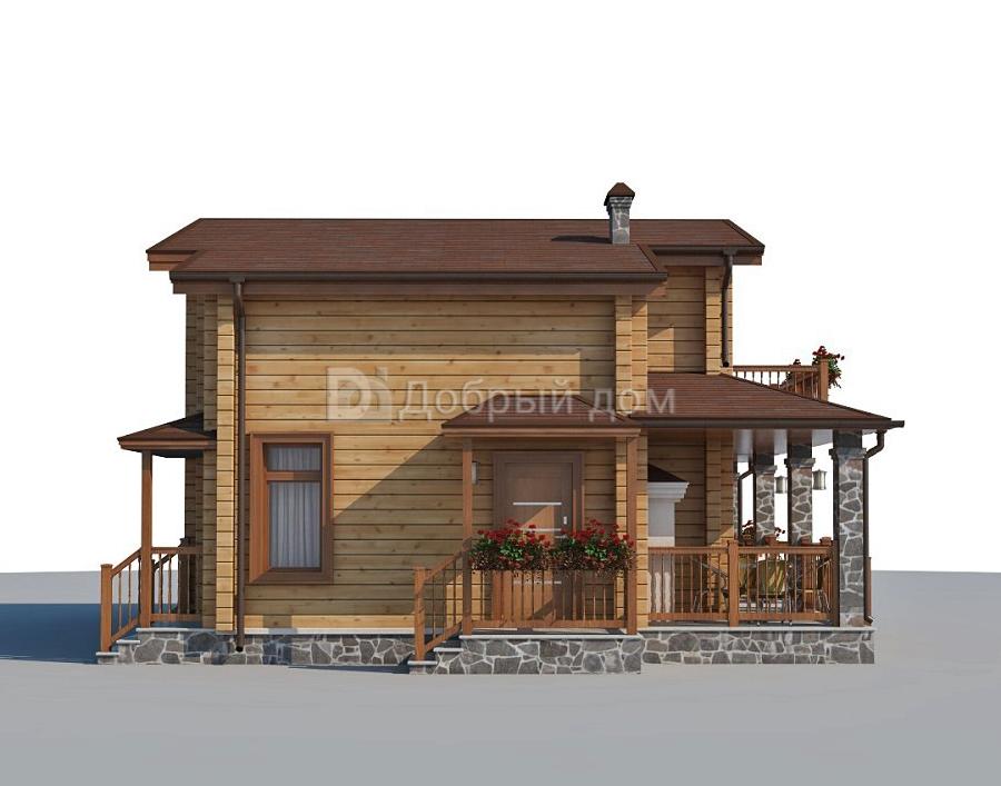 Проект дома 8.5 м х 8.5 м с двускатной крышей