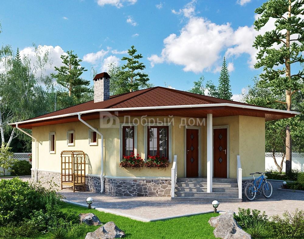 Проект дома 14,6×7,2 м. с четырехскатной крышей