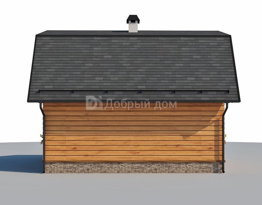 Проект дома 8×6 м. с мансардной крышей