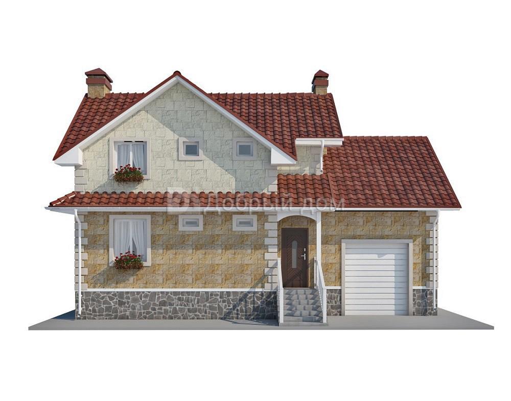 Проект дома 12,7×9 м. с двускатной крышей