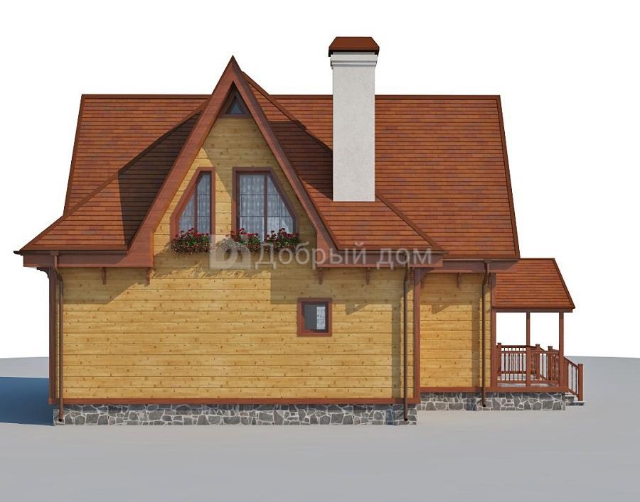 Проект дома 11.5 м х 10 м с четырехскатной крышей