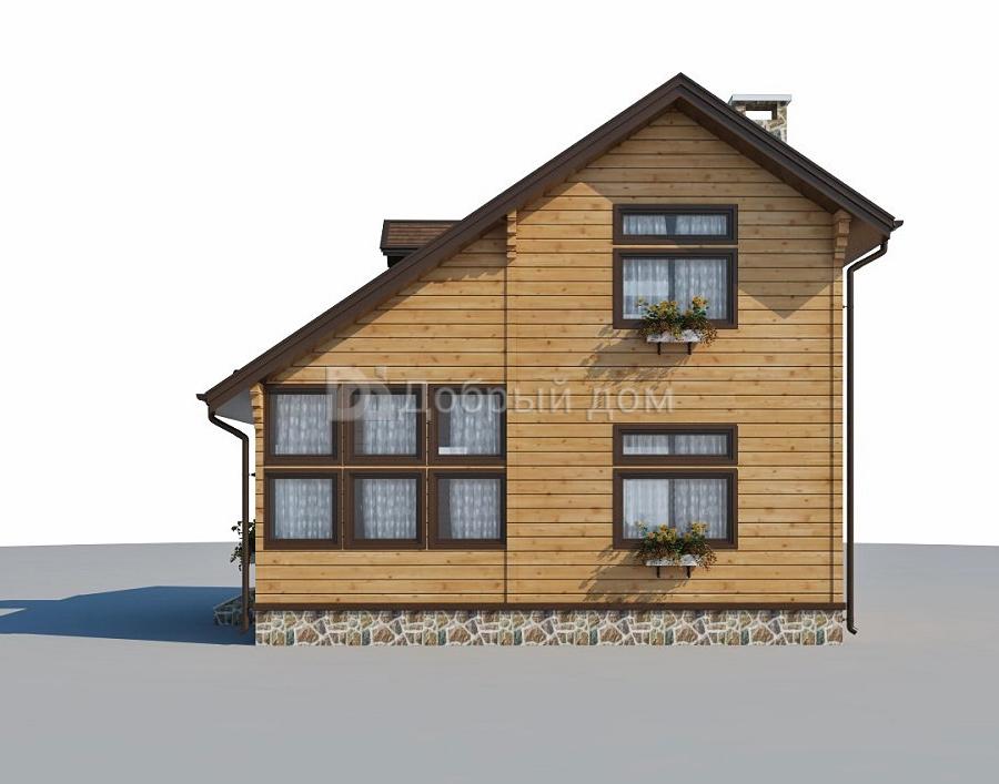 Проект дома 8 м х 6 м с двускатной крышей