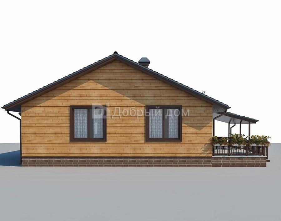 Дом 12,2×10,7 м. с двускатной крышей