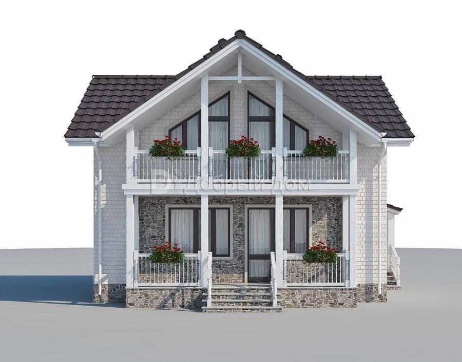 Проект дома 9×6,5 м. с двускатной крышей