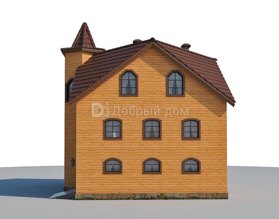 Проект дома 12.4 м х 10.8 м с четырехскатной крышей, мансардной крышей