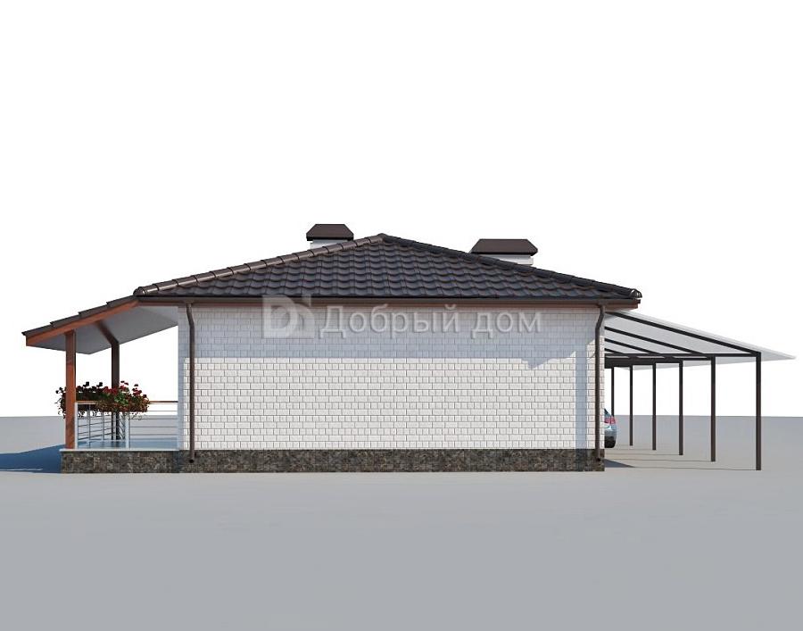 Дом 12×8 м. с четырехскатной крышей