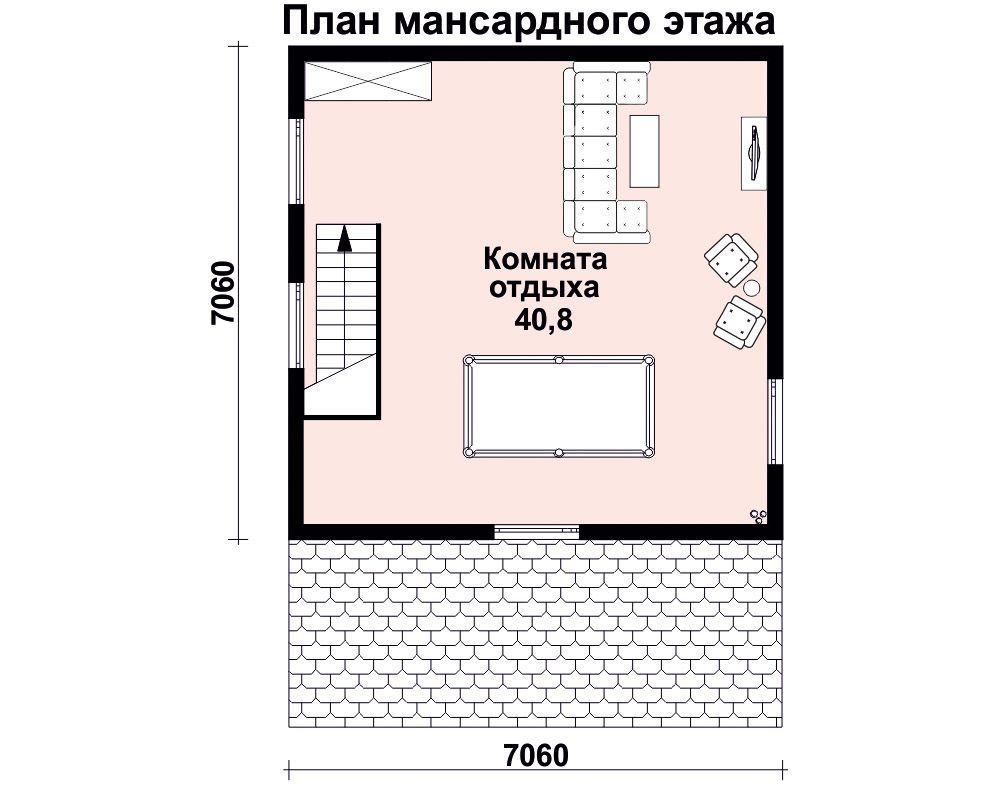 Баня  9.5 м × 7 м