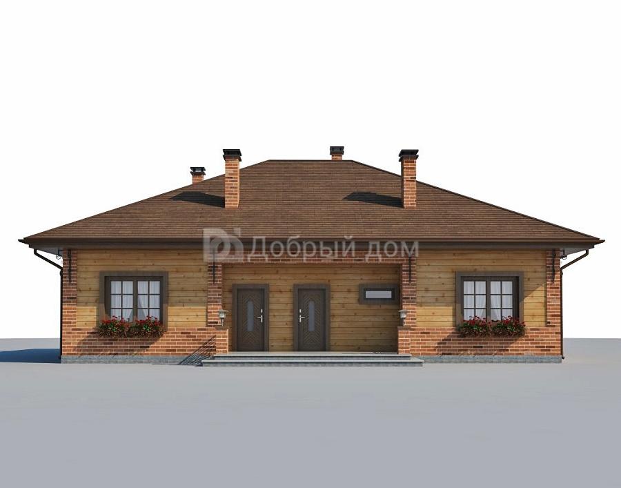 Проект дома 15.5 м х 11.8 м с четырехскатной крышей