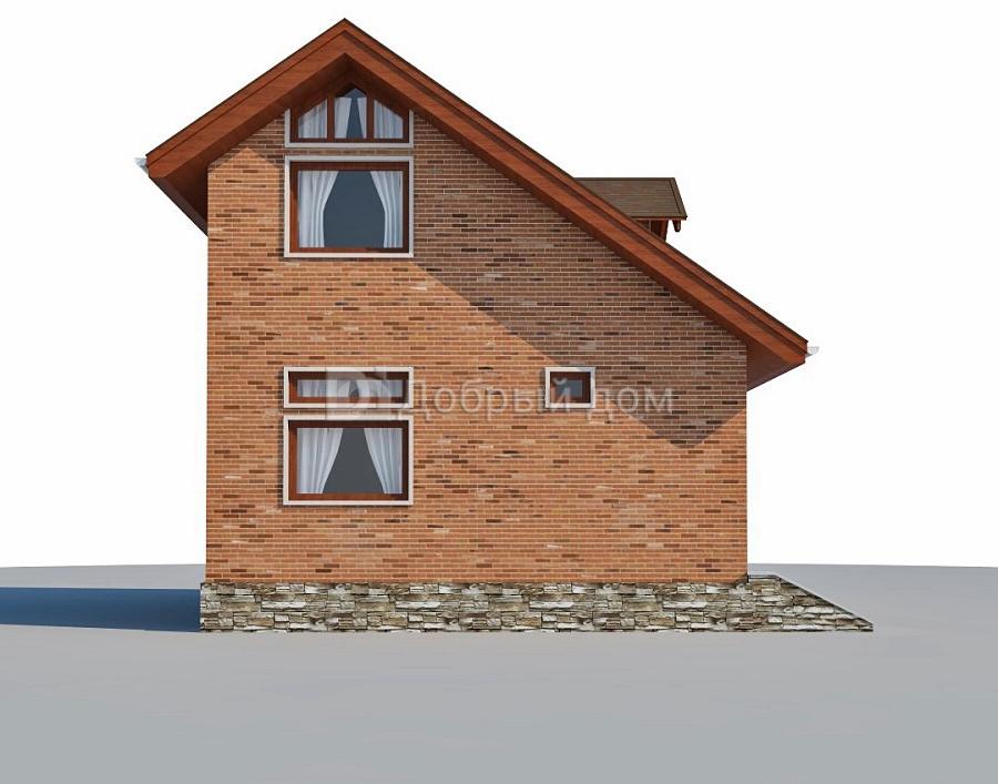 Дом 6,1×6,1 м. с двускатной крышей