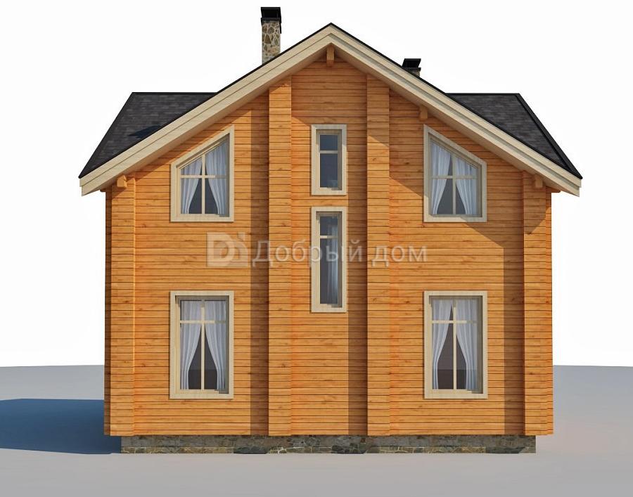 Проект дома 9.6 м х 9.6 м с четырехскатной крышей
