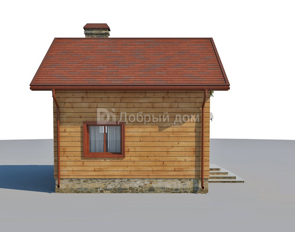 Дом 6×6 м. с двускатной крышей