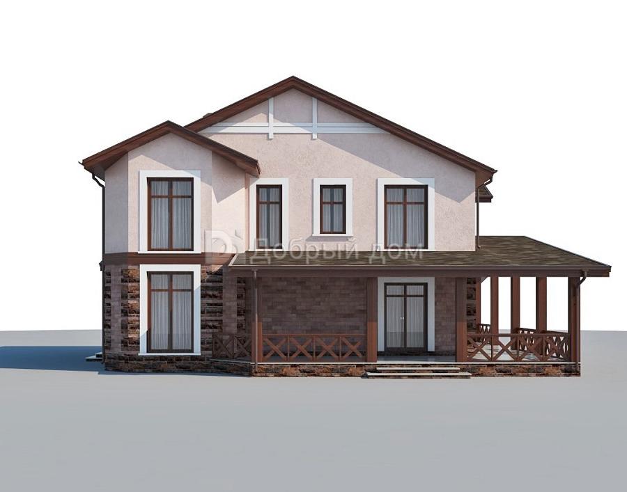 Дом 13,1×13,1 м. с двускатной крышей