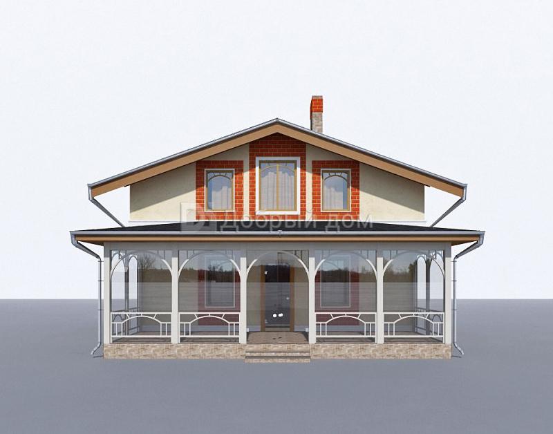 Дом 9,4×9,4 м. с мансардной крышей
