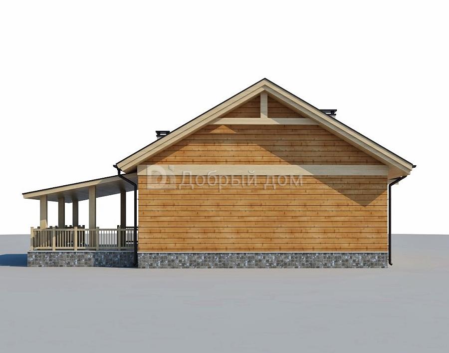 Проект дома 12,3×8,7 м. с двускатной крышей