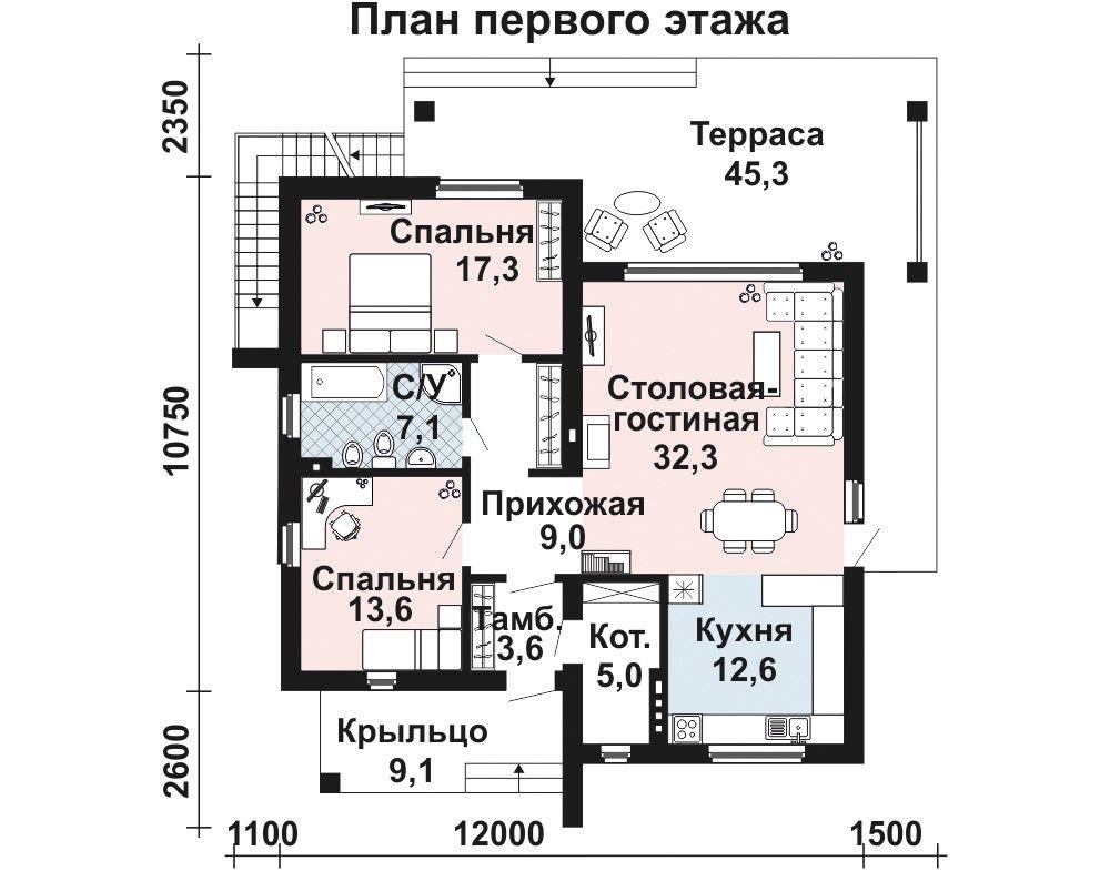 проект одноэтажный керамзитобетон