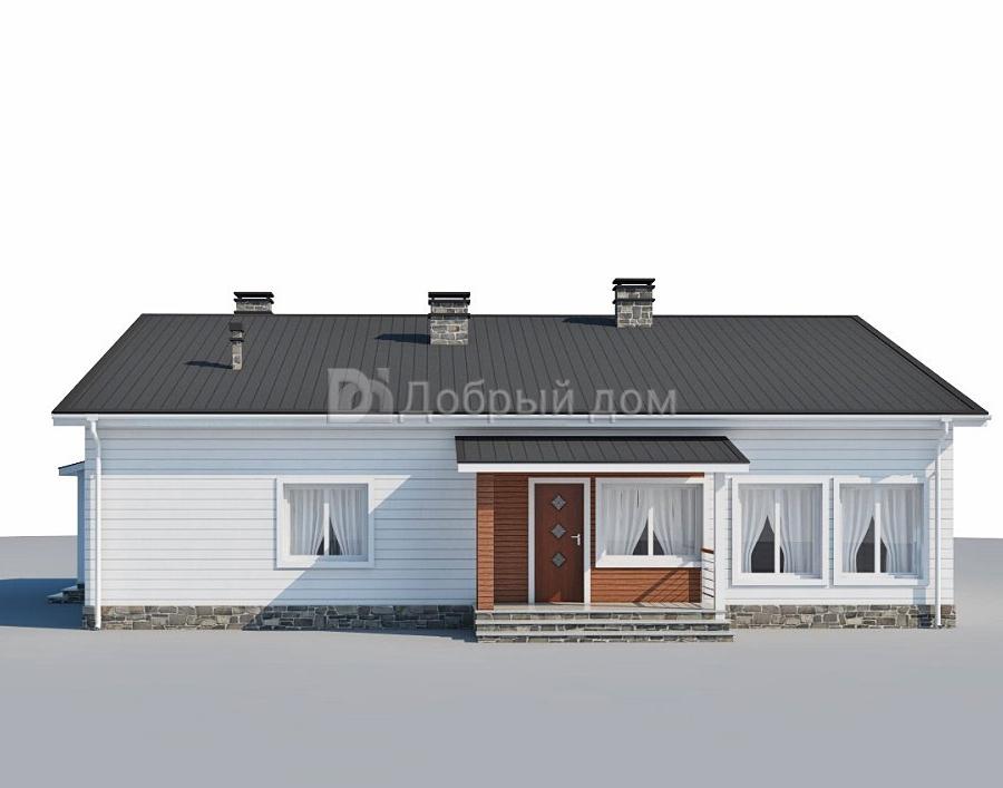 Проект дома 14,7×10,2 м. с двускатной крышей