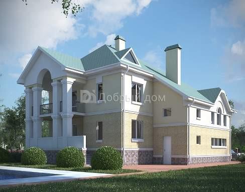 Проект дома 13,8×13,34 м. с четырехскатной крышей