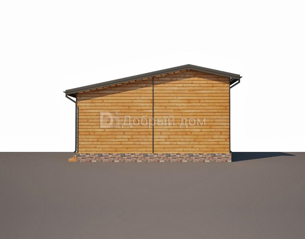 Проект дома 20.7 м х 9.5 м с двускатной крышей