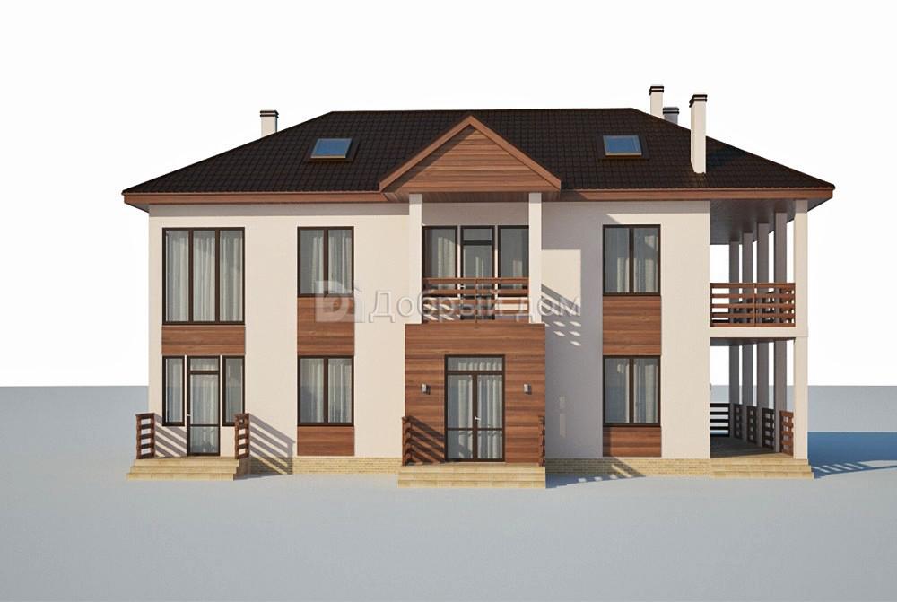 Проект дома 14,7×10,4 м. с четырехскатной крышей
