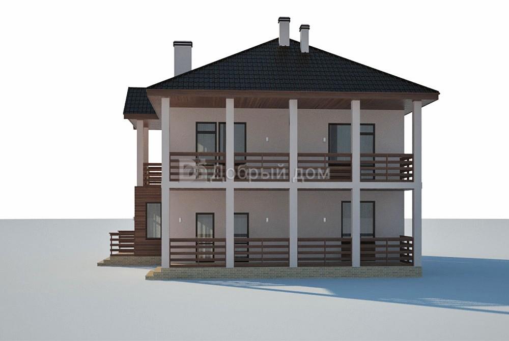 Дом 14,7×10,4 м. с четырехскатной крышей