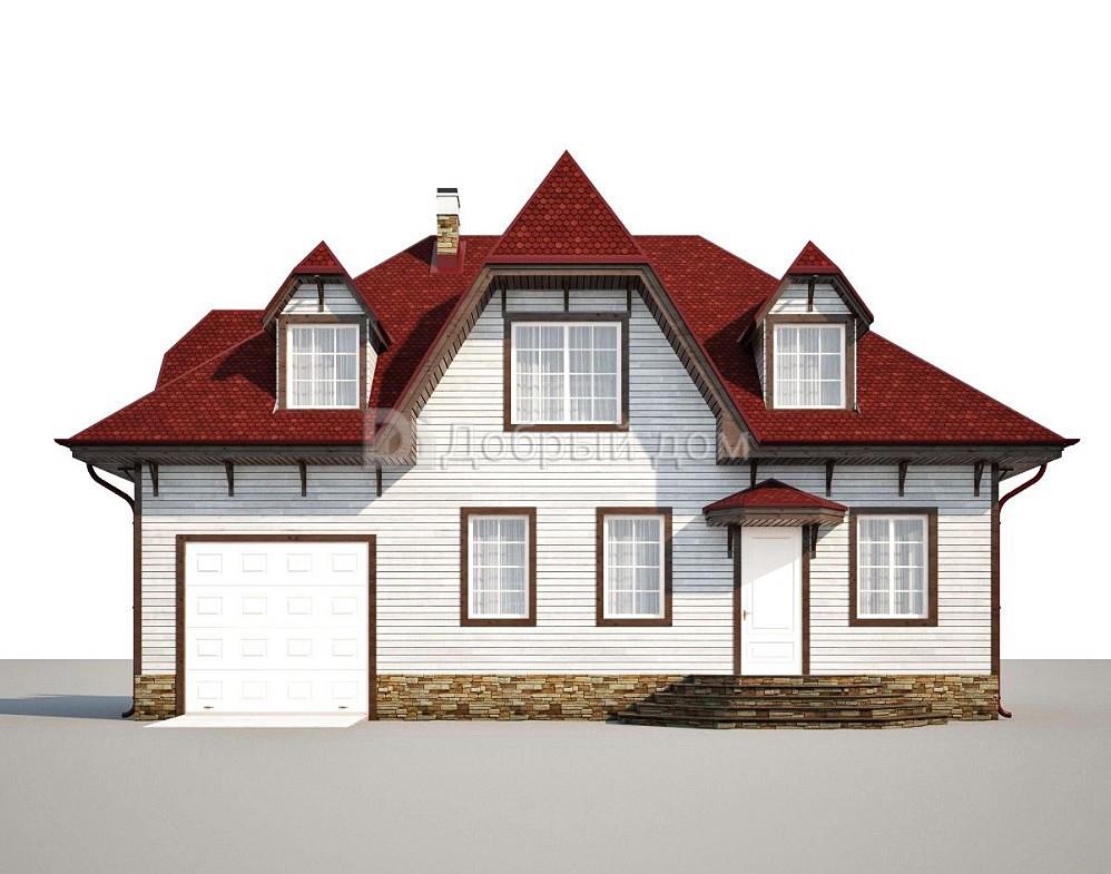 Проект дома 14 м х 8.2 м с мансардной крышей