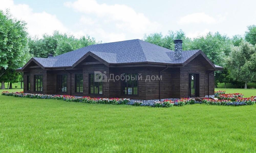 Дом 24×16 м. с четырехскатной крышей