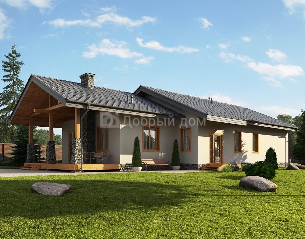 Дом 21×11 м. с двускатной крышей