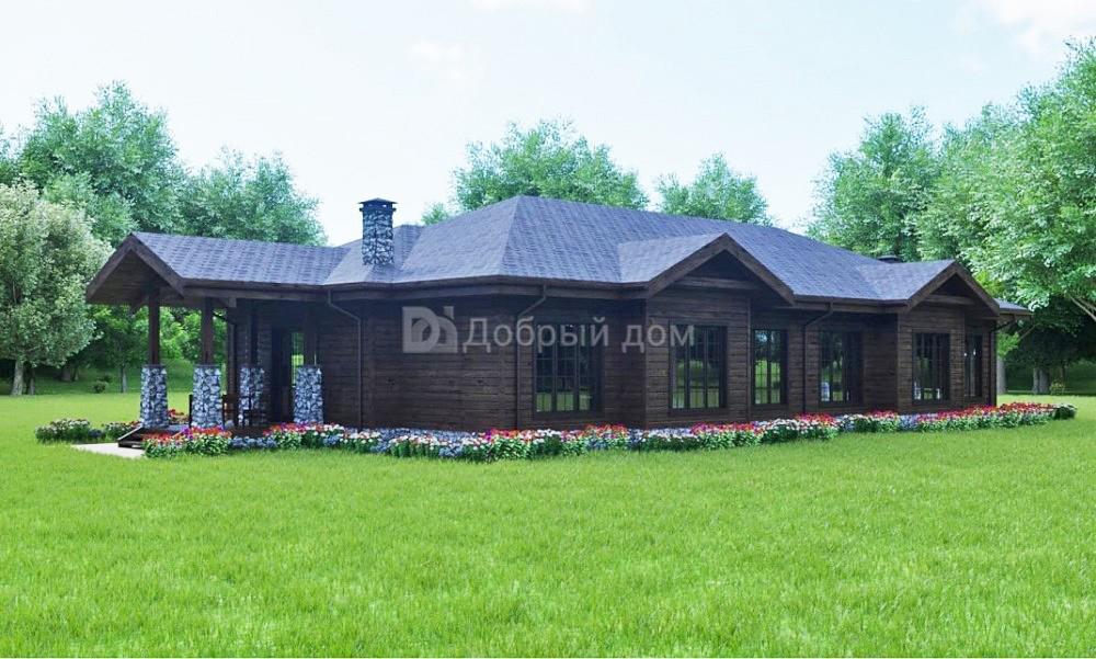 Проект дома 30×13 м. с четырехскатной крышей